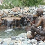 "Fisherboy, bronze, 24"" high"