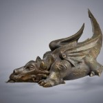 "Luck Dragon, bronze, 30"" long"