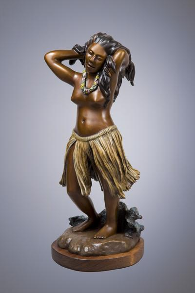 "Indigenous Dancer, bronze, 18"" high"