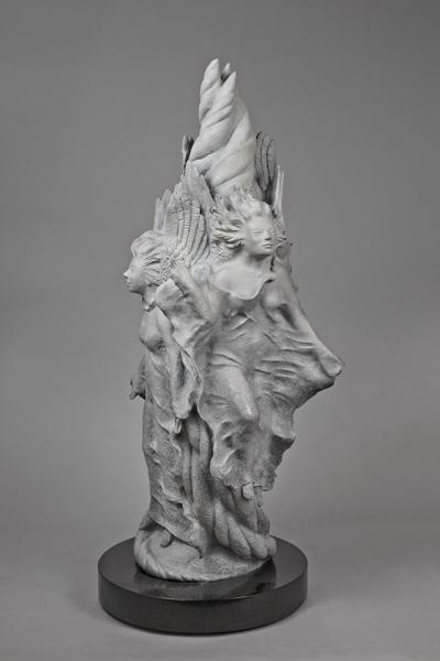 "Band of Angels, bronze, 36"" high"