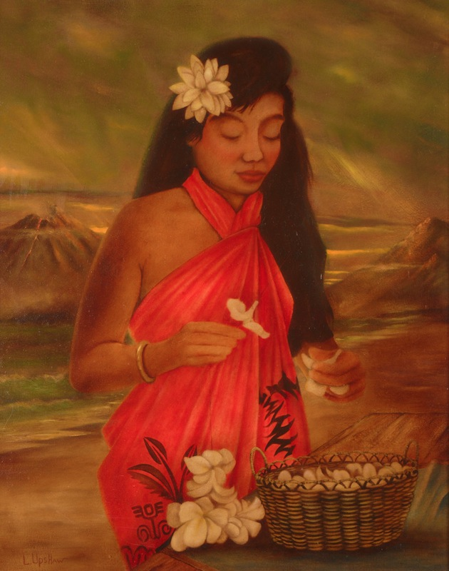 Making Leis, oil