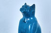 "Space Cat, bronze, 20"" high"